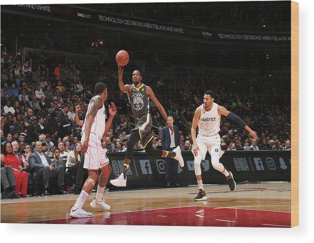 Nba Pro Basketball Wood Print featuring the photograph Kevin Durant by Ned Dishman