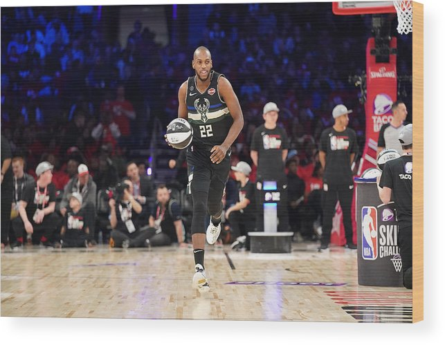 Nba Pro Basketball Wood Print featuring the photograph Khris Middleton by Jesse D. Garrabrant