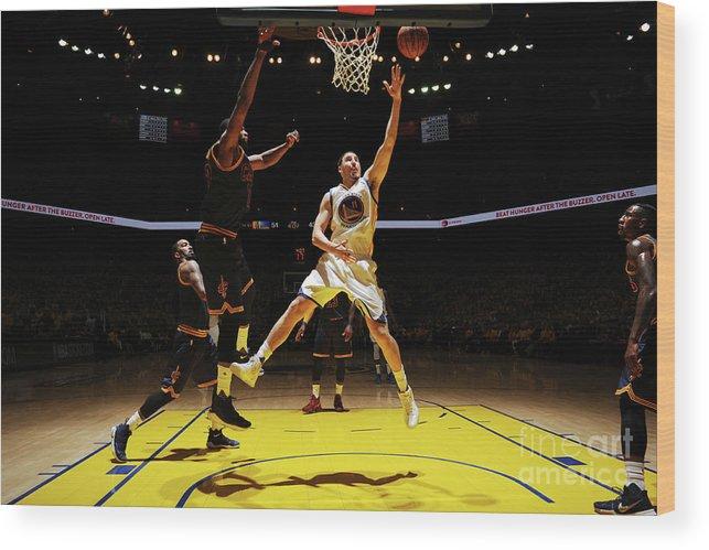 Playoffs Wood Print featuring the photograph Klay Thompson by Garrett Ellwood