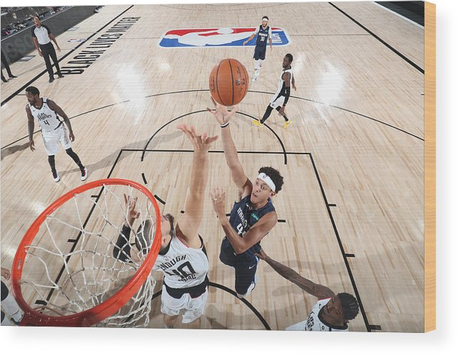 Playoffs Wood Print featuring the photograph LA Clippers v Dallas Mavericks - Game Four by Joe Murphy