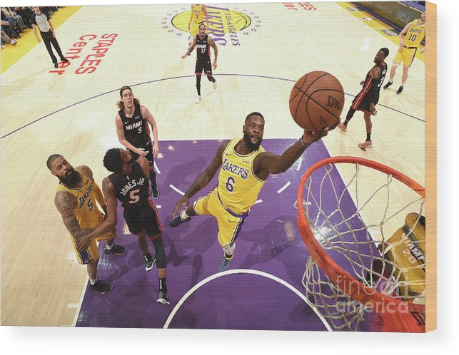 Nba Pro Basketball Wood Print featuring the photograph Lance Stephenson by Andrew D. Bernstein