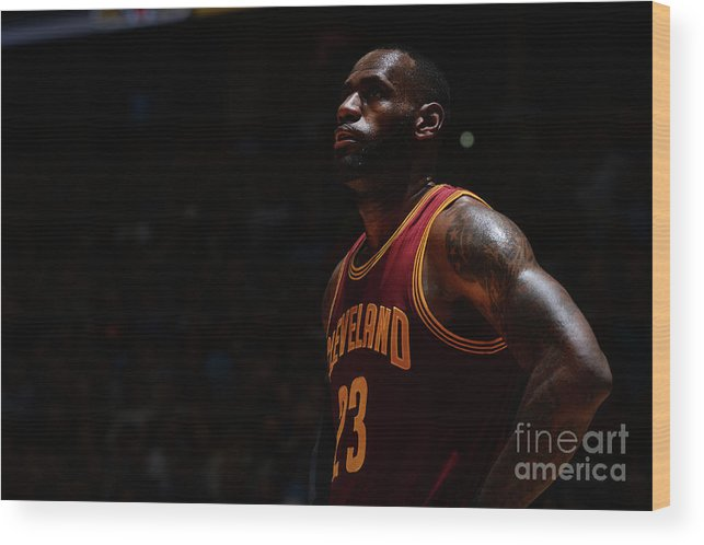 Nba Pro Basketball Wood Print featuring the photograph Lebron James by Bart Young