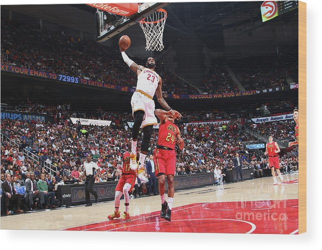 Atlanta Wood Print featuring the photograph Lebron James by Kevin Liles
