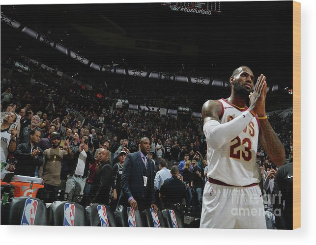 Nba Pro Basketball Wood Print featuring the photograph Lebron James by Mark Sobhani