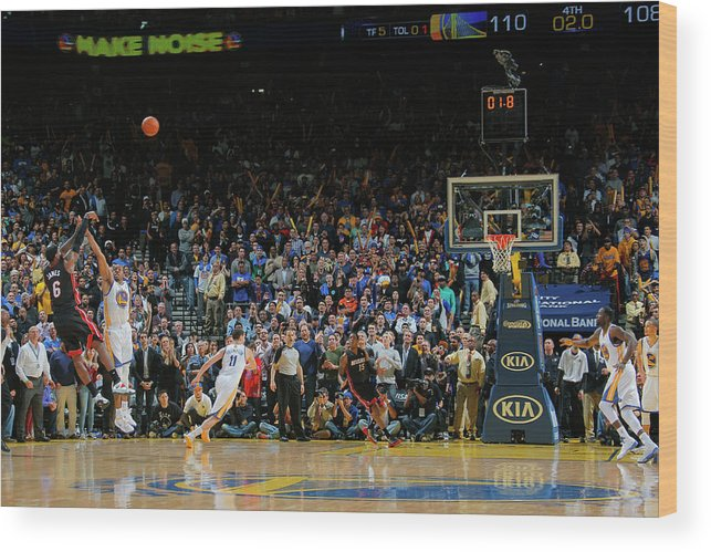 Nba Pro Basketball Wood Print featuring the photograph Lebron James by Rocky Widner