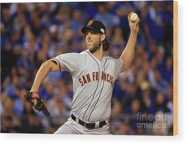 People Wood Print featuring the photograph Madison Bumgarner by Rob Carr