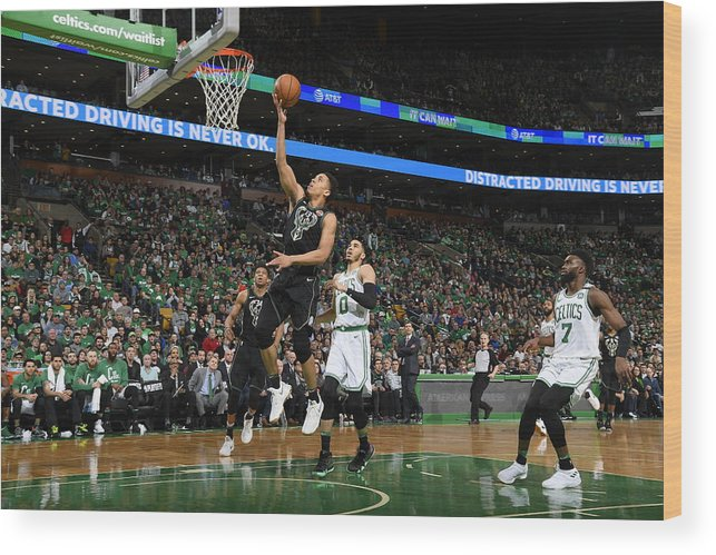 Playoffs Wood Print featuring the photograph Malcolm Brogdon by Brian Babineau