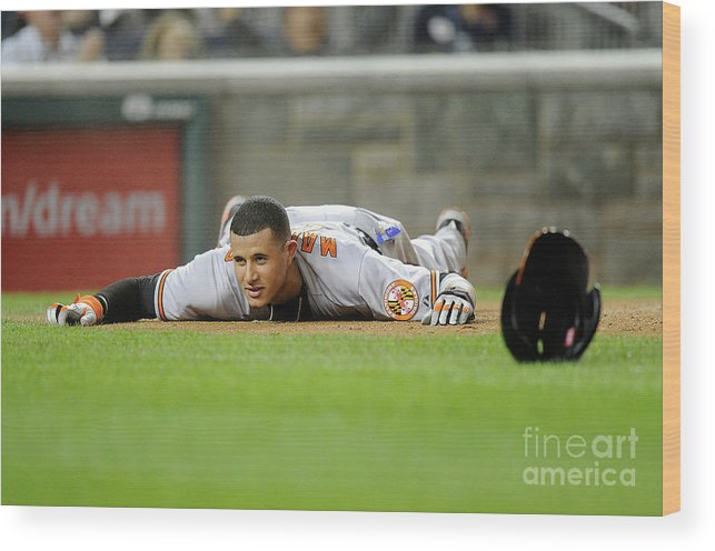People Wood Print featuring the photograph Manny Machado by Greg Fiume