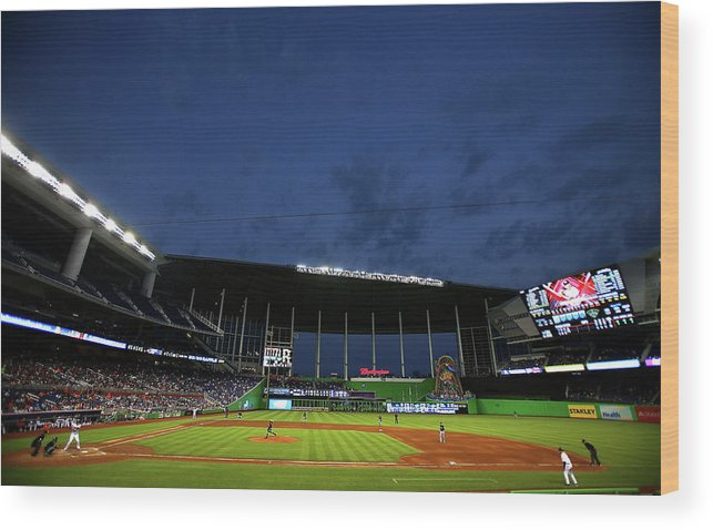 American League Baseball Wood Print featuring the photograph Marco Estrada by Mike Ehrmann