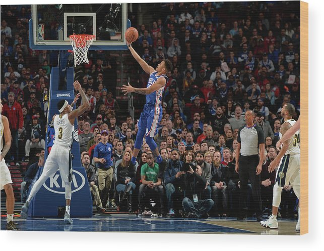 Nba Pro Basketball Wood Print featuring the photograph Markelle Fultz by David Dow