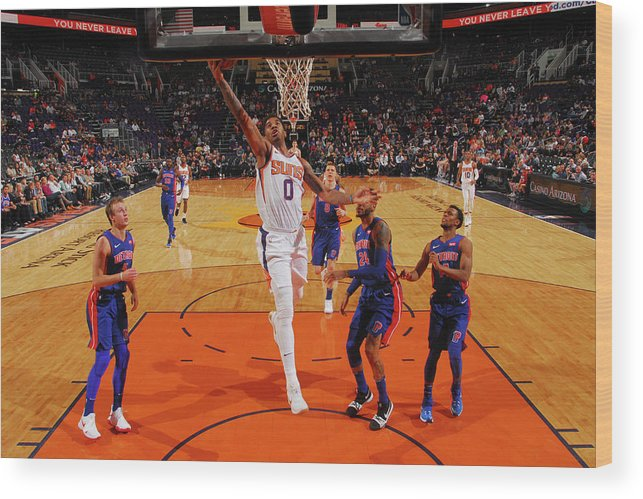Sports Ball Wood Print featuring the photograph Marquese Chriss by Barry Gossage