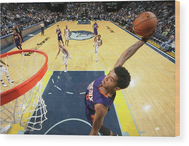 Nba Pro Basketball Wood Print featuring the photograph Marquese Chriss by Joe Murphy