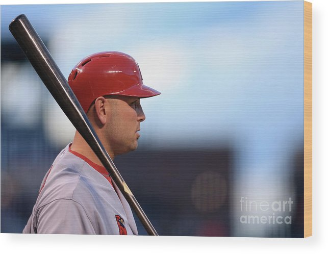 St. Louis Cardinals Wood Print featuring the photograph Matt Holliday by Doug Pensinger