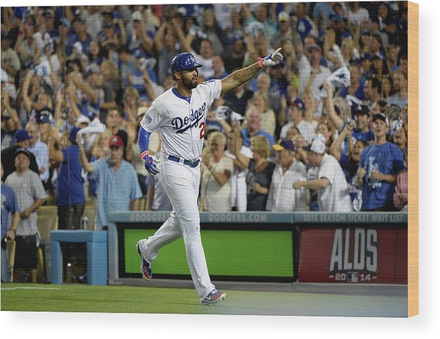 Game Two Wood Print featuring the photograph Matt Kemp by Harry How