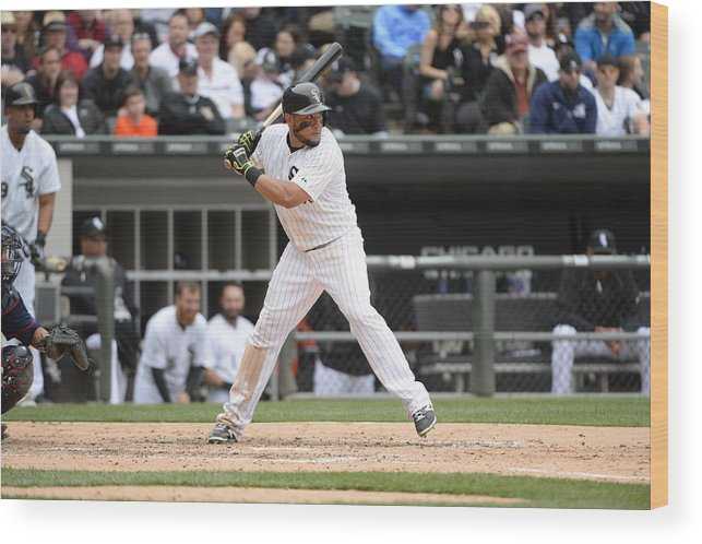 American League Baseball Wood Print featuring the photograph Melky Cabrera by Ron Vesely