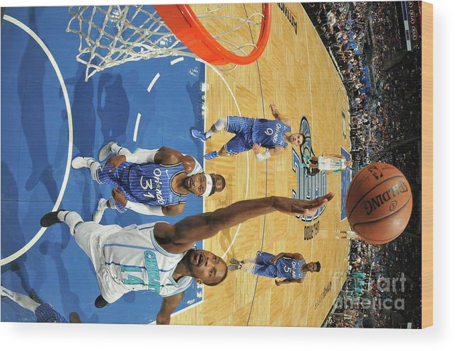 Nba Pro Basketball Wood Print featuring the photograph Michael Kidd-gilchrist by Fernando Medina