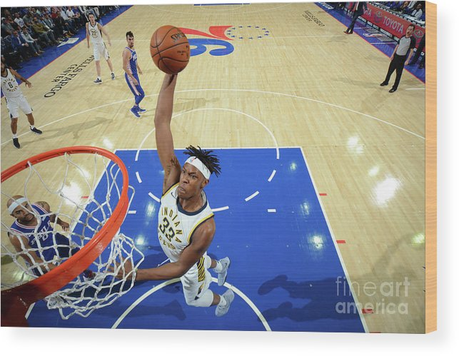 Nba Pro Basketball Wood Print featuring the photograph Myles Turner by Jesse D. Garrabrant