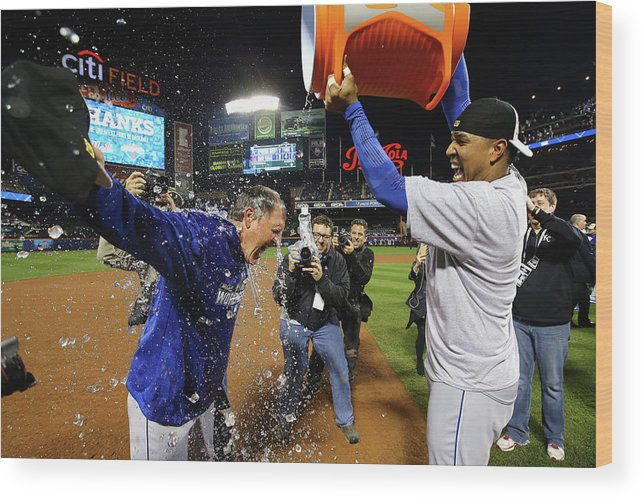 Salvador Perez Diaz Wood Print featuring the photograph Ned Yost by Al Bello