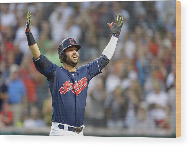 American League Baseball Wood Print featuring the photograph Nick Swisher by Jason Miller