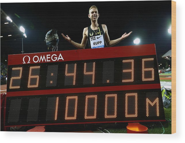 Galen Rupp Wood Print featuring the photograph Nike Prefontaine Classic-Day1 by Jonathan Ferrey