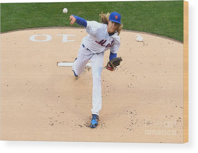 People Wood Print featuring the photograph Noah Syndergaard by Mike Stobe