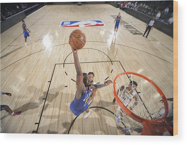 Nba Pro Basketball Wood Print featuring the photograph Noah Vonleh by Garrett Ellwood