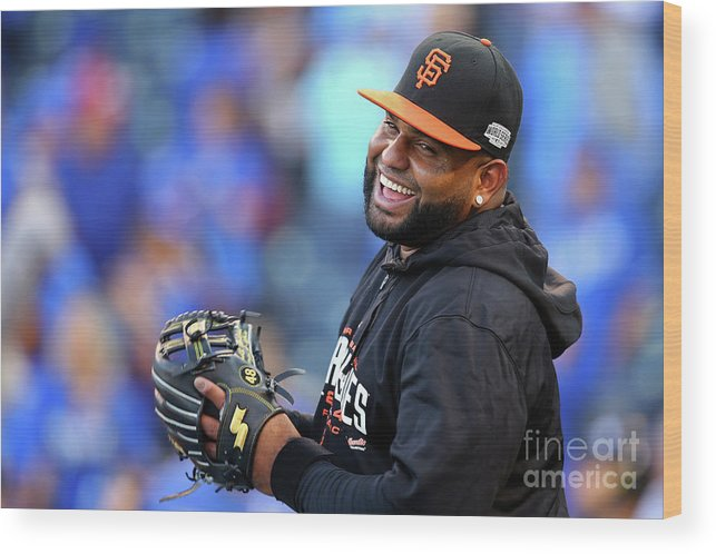 Game Two Wood Print featuring the photograph Pablo Sandoval by Dilip Vishwanat