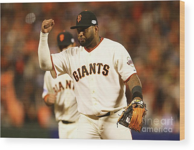 San Francisco Wood Print featuring the photograph Pablo Sandoval by Elsa