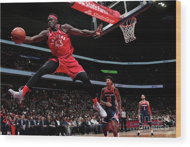 Nba Pro Basketball Wood Print featuring the photograph Pascal Siakam by Ned Dishman