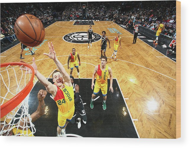 Nba Pro Basketball Wood Print featuring the photograph Pat Connaughton by Nathaniel S. Butler