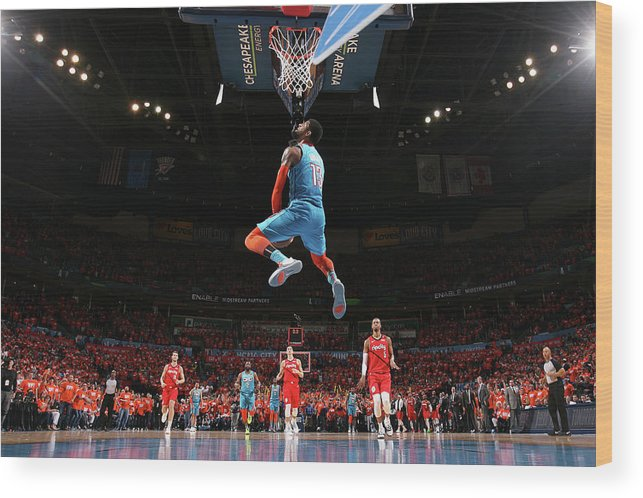 Playoffs Wood Print featuring the photograph Paul George by Joe Murphy