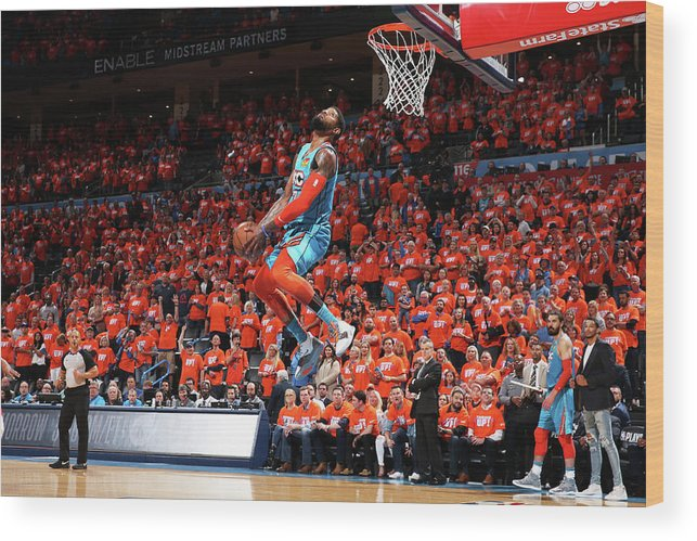 Playoffs Wood Print featuring the photograph Paul George by Zach Beeker
