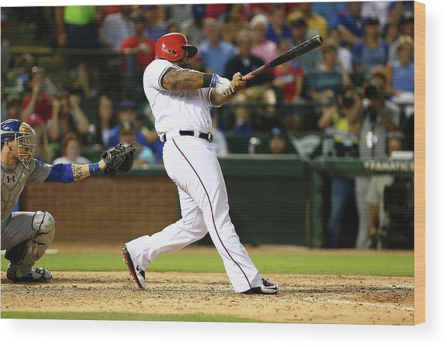People Wood Print featuring the photograph Prince Fielder by Sarah Crabill