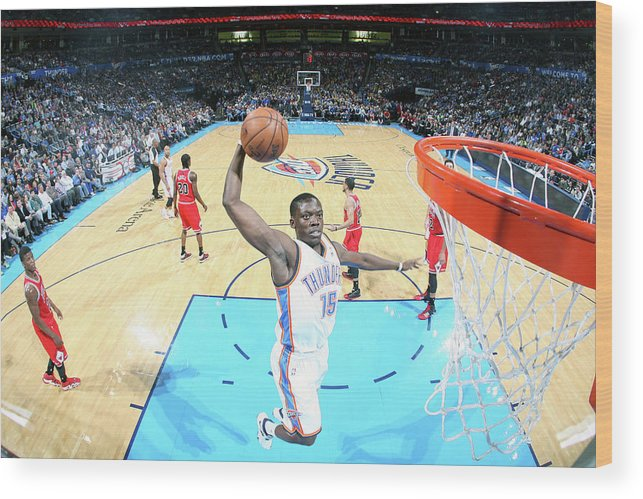 Nba Pro Basketball Wood Print featuring the photograph Reggie Jackson by Layne Murdoch Jr.