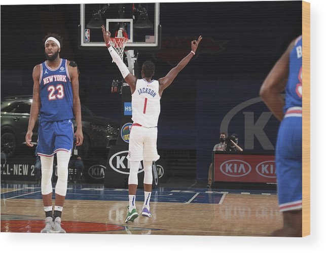 Nba Pro Basketball Wood Print featuring the photograph Reggie Jackson by Nathaniel S. Butler
