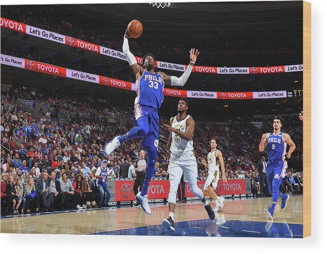 Nba Pro Basketball Wood Print featuring the photograph Robert Covington by Jesse D. Garrabrant