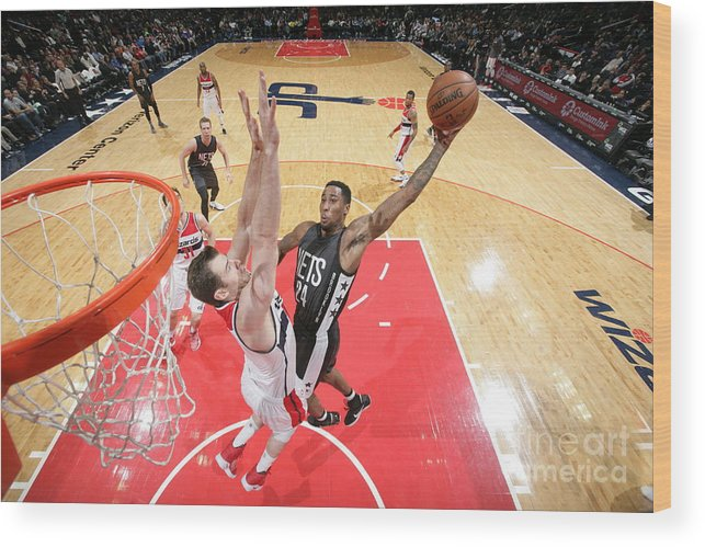 Nba Pro Basketball Wood Print featuring the photograph Rondae Hollis-jefferson by Ned Dishman
