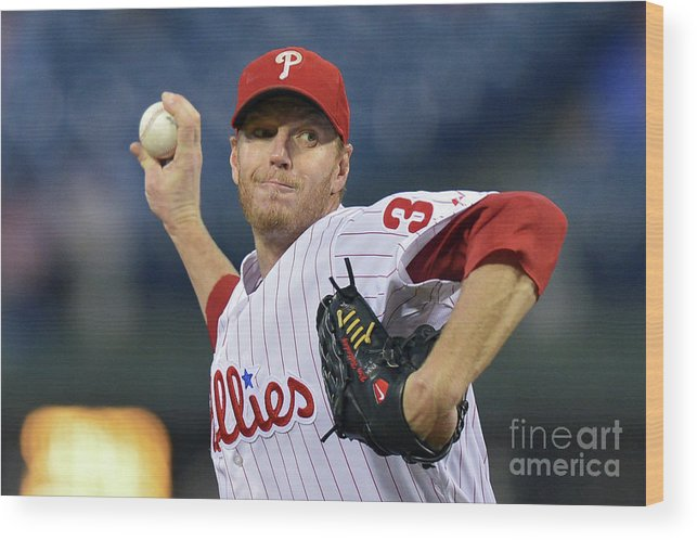 People Wood Print featuring the photograph Roy Halladay by Drew Hallowell