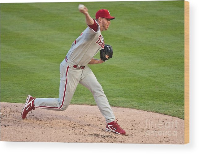 People Wood Print featuring the photograph Roy Halladay by Ronald C. Modra
