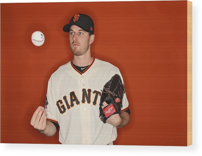 Media Day Wood Print featuring the photograph San Francisco Giants Photo Day by Patrick Smith