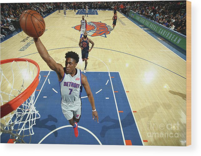 Nba Pro Basketball Wood Print featuring the photograph Stanley Johnson by Nathaniel S. Butler