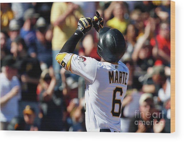 People Wood Print featuring the photograph Starling Marte by Justin K. Aller
