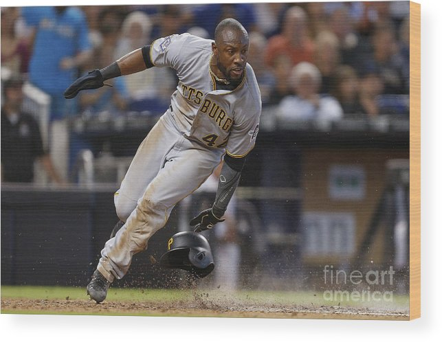 People Wood Print featuring the photograph Starling Marte by Michael Reaves