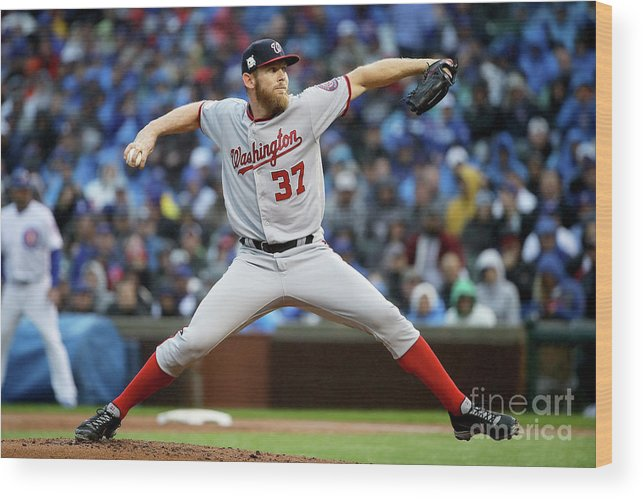 Second Inning Wood Print featuring the photograph Stephen Strasburg by Jonathan Daniel