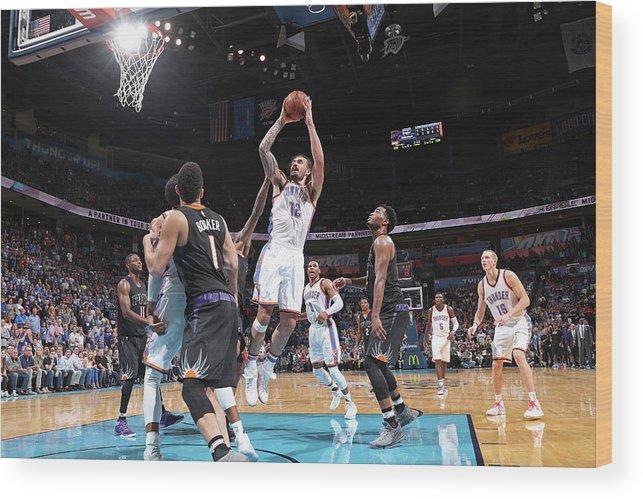 Nba Pro Basketball Wood Print featuring the photograph Steven Adams by Joe Murphy