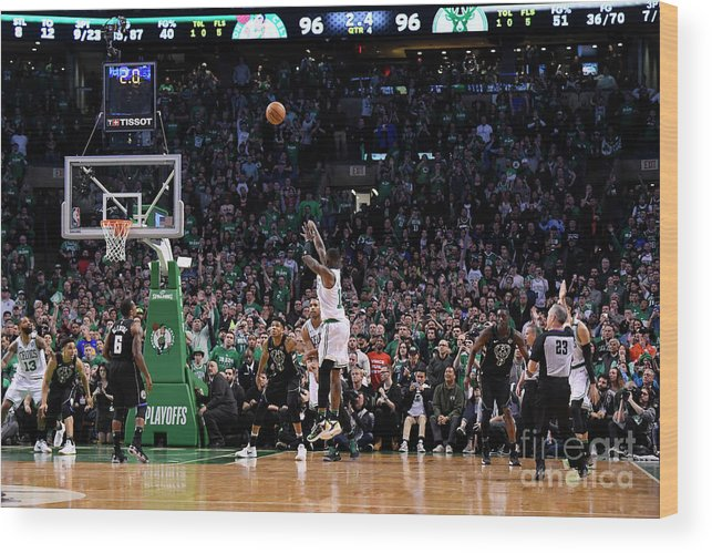 Playoffs Wood Print featuring the photograph Terry Rozier by Brian Babineau
