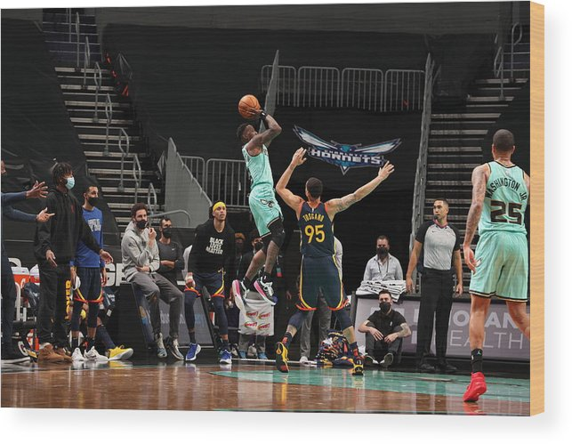 Nba Pro Basketball Wood Print featuring the photograph Terry Rozier by Kent Smith