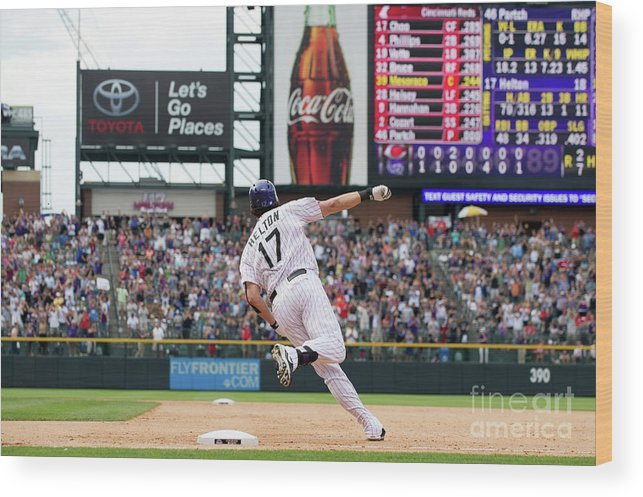 2nd Base Wood Print featuring the photograph Todd Helton by Dustin Bradford