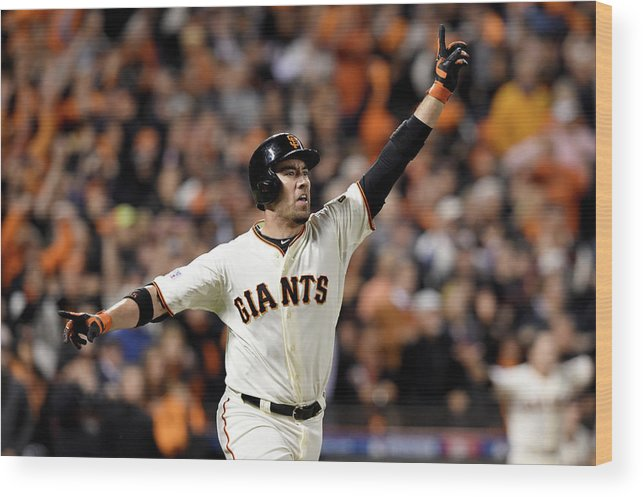 Playoffs Wood Print featuring the photograph Travis Ishikawa by Thearon W. Henderson