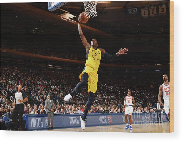 Nba Pro Basketball Wood Print featuring the photograph Victor Oladipo by Jesse D. Garrabrant